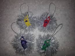 teletubbies christmas ornaments 4 pc set family tree kids tree