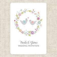Love Bird Wedding Invitations Summer Love Birds Boutique Wedding Invitation U0026 Rsvp