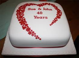 ruby wedding cakes 22 best special cakes images on anniversary ideas