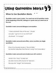 quotation marks worksheetsworksheets