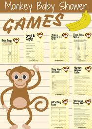 8 monkey baby shower games package game monkey monkey baby and