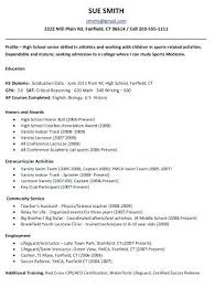 high resume for college admissions exles sle resume for college admission