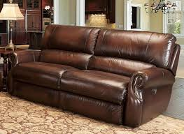 Dual Reclining Sofa Power Dual Reclining Sofa In Brown Tri Tone Leather By