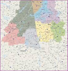 Radius Maps Custom Territory U0026 Radius Maps Digital Vector U0026 Wall