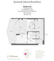 toronto floor plans shangri la floorplans