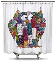 Stall Size Fabric Shower Curtain Catherine Holcombe Log Cabin Owl Fabric Shower Curtain Shower