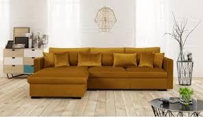 canapé 5 places pas cher malma canapé d angle réversible 5 places velours jaune moutarde pas
