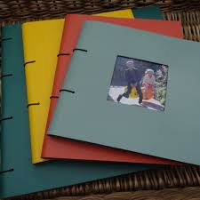 Art Leather Photo Albums Square Frame Fronted Leather Photo Album By Artbox