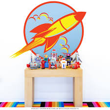 Wizard Of Oz Wall Stickers Space Ship 50s Style Rocket Wall Decal Game Room Decor