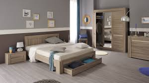 chambre à coucher chêtre chambre adulte complète contemporaine chêne clair salamandre