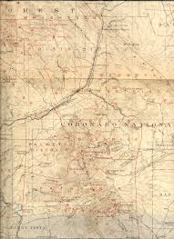 County Map Of New Mexico by 19th Century Arizona Maps