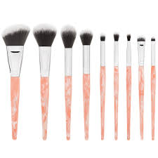 pretty in pink 10 piece makeup brush set bh cosmetics