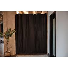 hanging curtain as room divider decorate the house with