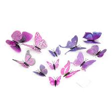 high quality gossip same style 6 big and 6 small 3d butterfly