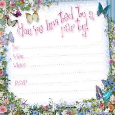 birthday invites mesmerizing birthday party invitation template