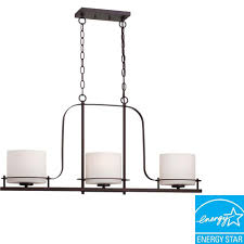 3 Light Kitchen Island Pendant by Hampton Bay Essex 3 Light Aged Black Island Pendant 14710 The