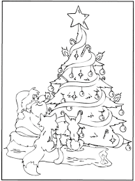 coloring pages xmas tree christmas tree coloring printable