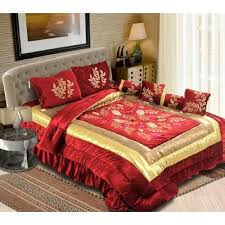 decorative bedsheets wedding bedding set manufacturer from panipat