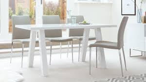 White Gloss Dining Room Table by Modern Zen 6 Seater White Gloss And Oak Dining Table Uk
