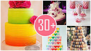 colorful tie dye wedding cake in 2014 wedding trend from vi vi an