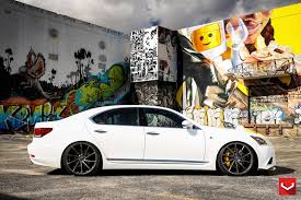 white lexus white lexus ls 460 f sport riding high on 22