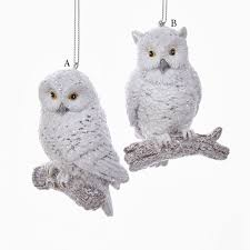 3 5 resin white owl ornament and city