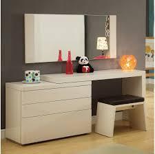 White High Gloss Computer Desk by Usa Athens Dresser 4 Pcs Set Dresser Extension Mirror And Stool