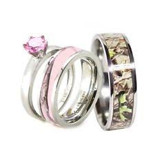 camo wedding ring sets for him and stainless steel solitaire engagement wedding ring sets ebay