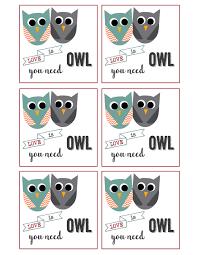 free printable owl valentine cards paper trail design