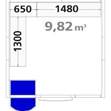 chambre froide d駑ontable chambre froide positive cfp2326 démontable 9 82m3 inclus