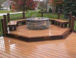 diy deck fire pit design and ideas