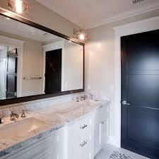 Metal Framed Mirrors Bathroom Metal Framed Bathroom Mirrors Mirror Brushed Nickel In Black For