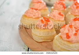mousse canape canape salmon mousse caviar stock photo 358112123
