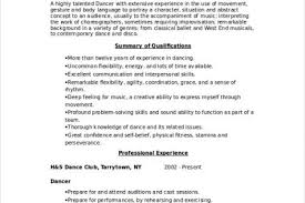 Sample Dance Resume For Audition by Professional Dancer Resume Sample Reentrycorps
