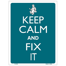 nautical wedding sayings keep calm and fix it tin sign