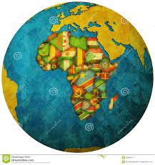 Africa Map With Countries by Africa Continent Flag Map Stock Photos Images U0026 Pictures 378