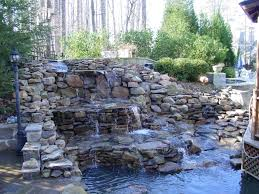 backyard pond ideas with waterfall outdoor furniture design and