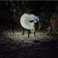 solar powered sheep garden ornament light savvysurf co uk