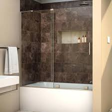 Bathtubs With Glass Shower Doors Half Glass Shower Door For Bathtub Frameless Glass Shower Doors