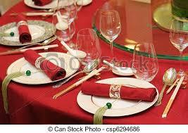 Wedding Table Set Up Stock Image Of Chinese Wedding Table Set Chinese Wedding Banquet