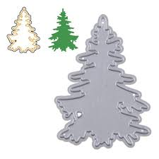 aihome christmas tree background metal cutting dies for diy