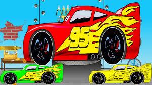 lightning mcqueen cars paint u0026 fun race learn colors disney cars