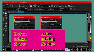 increase the number of units of the numbering values in corel draw
