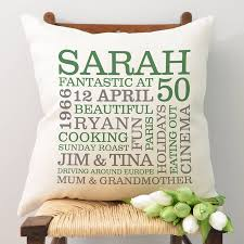 Silver Jubilee Wedding Anniversary Invitation Cards Personalised 50th Birthday Word Art Cushion By A Type Of Design