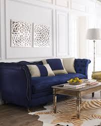mid century velvet blue tuxedo sofa rectangle iron framed coffee