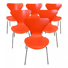 Arne Jacobsen Dining Chairs Set Of 6 Butterfly Dining Chairs Model 3107 D Arne Jacobsen Pour