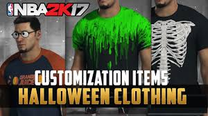 nba 2k17 halloween update u0026 new clothing customization youtube