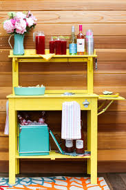 how to convert a potting bench into a party cart discover