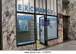 bureau de change york the shop bureau de change stock photo royalty free