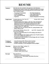 Best Resume Title by Curriculum Vitae Certification Sample For Work Experience Data